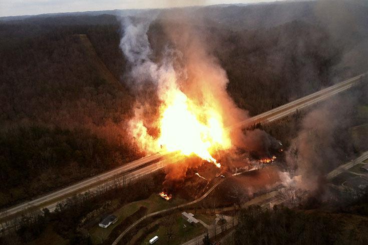 взрыв газопровода