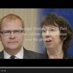 YouTube: Эштон и глава МИД Эстонии поговорили о снайперах на Майдане