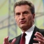 Эттингер призывает Германию не отказываться от добычи сланцевого газа