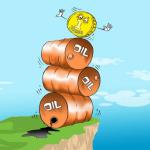 Нефть Brent опустилась ниже 47 долларов, рубль подобрался к 65 за доллар