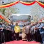 В Уганде представили электробус на солнечных батареях
