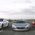 """Хорватский самодельный гоночный электромобиль """"утер нос"""" Ferrari и Tesla"""