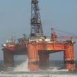 Нефтедобывающая платформа села на мель у берегов Шотландии