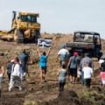 Против строительства нефтепровода Dakota Access протестуют без выходных