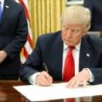 Дональд Трамп таки подписал указ о поддержке ГРП