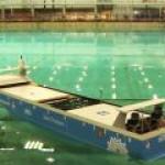 Спущен на воду прототип первого в мире электрохода-контейнеровоза