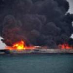 У берегов Китая горит иранский танкер с газовым конденсатом
