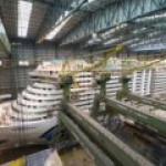 Крупнейший в мире круизный лайнер с СПГ-двигателями готов к спуску на воду