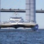 В Санкт-Петербурге представили электрический катамаран Ecovolt