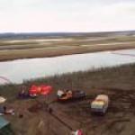 Лквидировать разлив топлива в Норильске мешает погода
