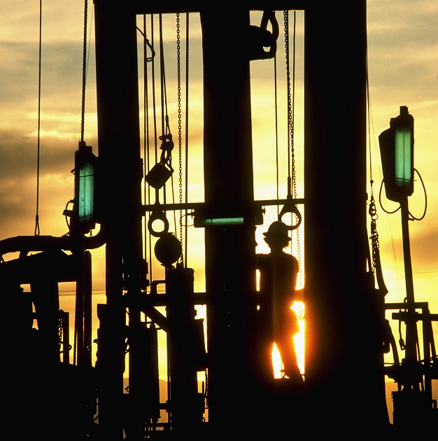 Petroleum Worker on Oil Rig