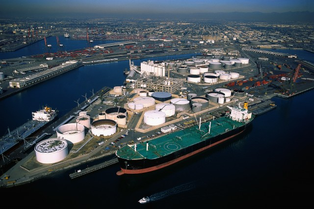Tanker and Oil Refinery