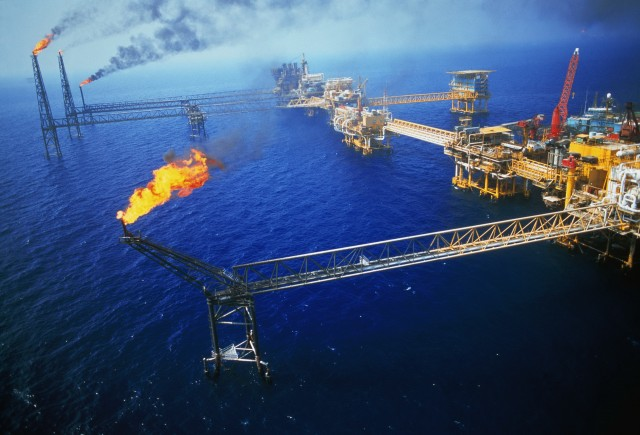 emex Offshore Oil Rigs in the Gulf of Mexico