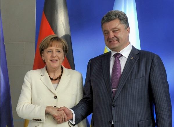 merkel Poroshenko