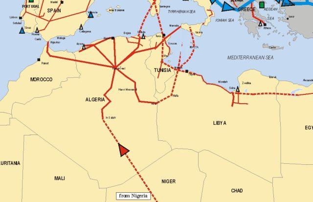 Африка Нигерия газопровод