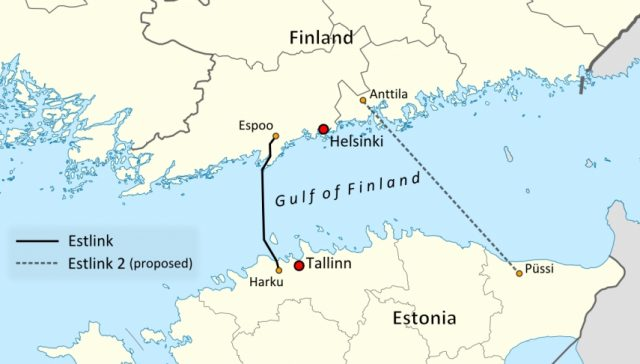 Balticconnector газопровод Эстония Финляндия