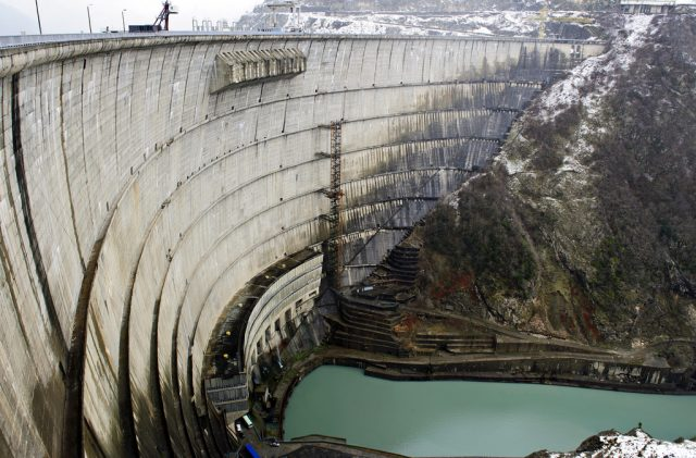 Грузия Ингури ГЭС