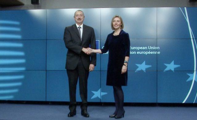 Алиев Могерини Южный газовый коридор Азербайджан ЕС