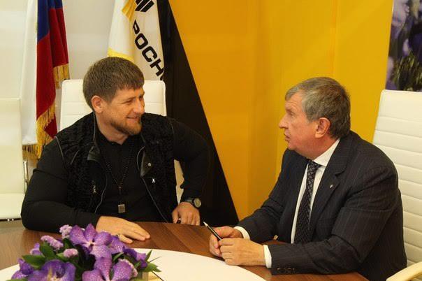 Кадыров Сечин Роснефть Чечня