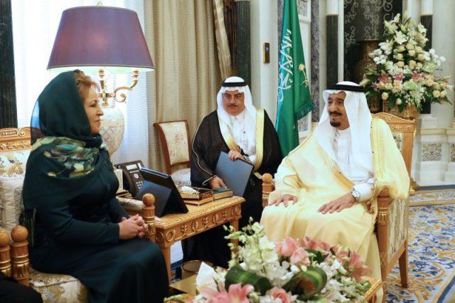 Матвиенко король Салман Саудовская Аравия