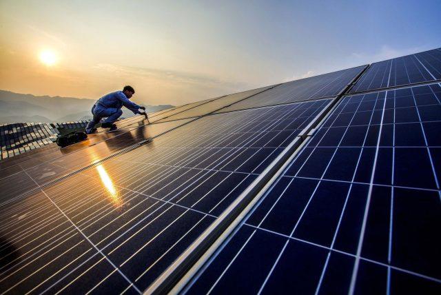 Китай солнечная энергетика солнечная электростанция ВИЭ