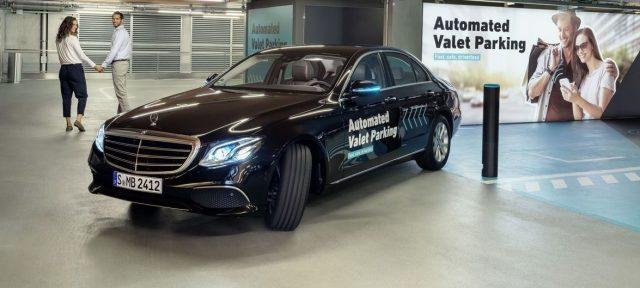Daimler беспилотная парковка Mercedes