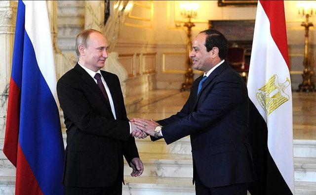 Путин и президент Египта