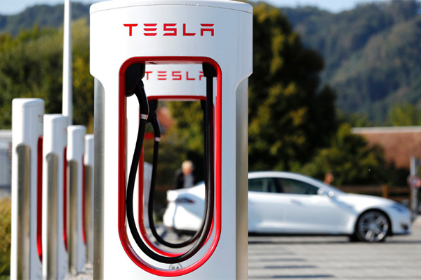 Tesla зарядка