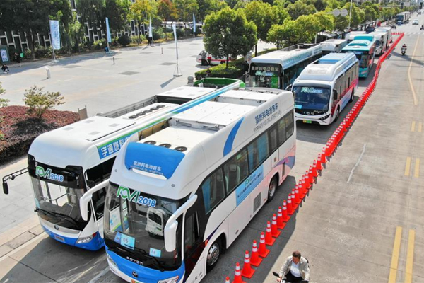 Электромобили автобусы водород