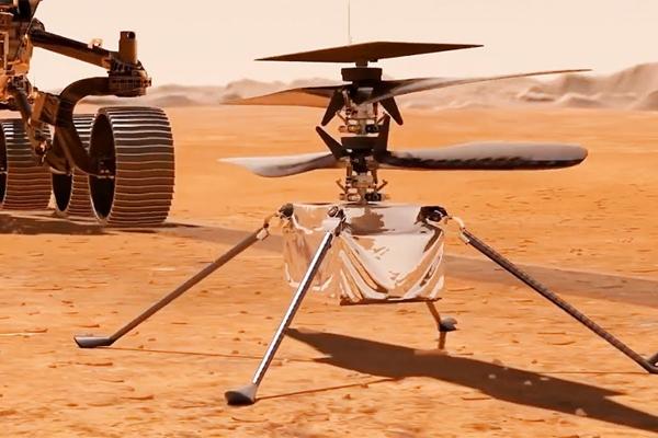 Вертолет на марсоходе