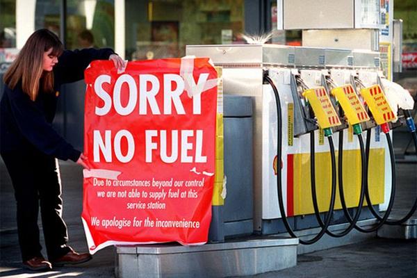 АЗС нет топлива Colonial